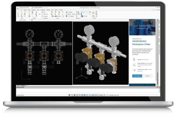 Phần mềm DraftSight phác thảo 2D CAD và thiết kế 3D với giá rẻ nhất